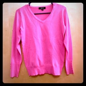 Womens Active USA Pink V-Neck Sweater